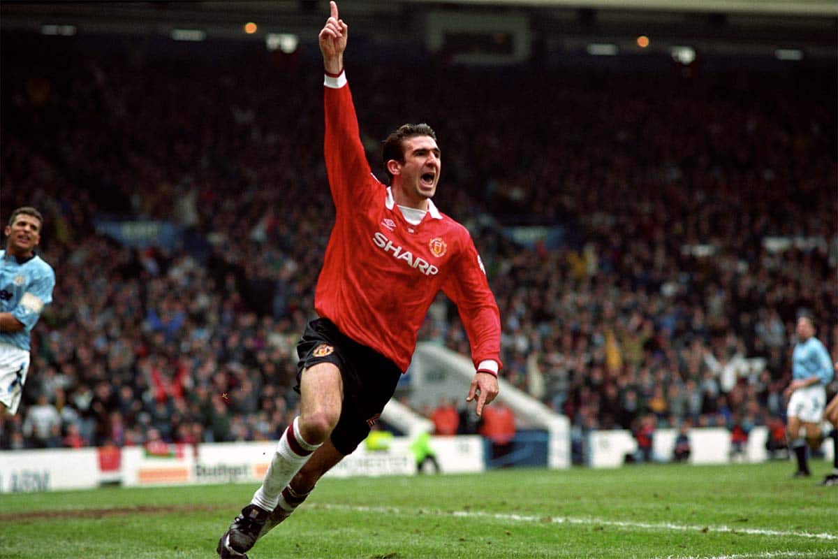 Manchester United forward Eric Cantona