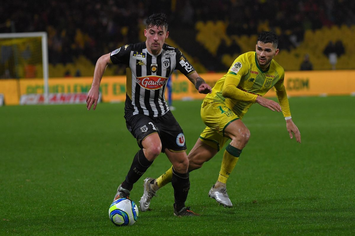 Leicester City, Tottenham Hotspur and Everton target Baptiste Santamaria in action for Angers