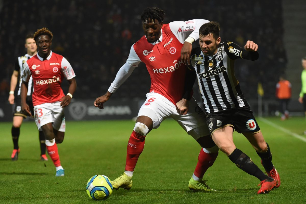 Arsenal target Axel Disasi in action for Reims