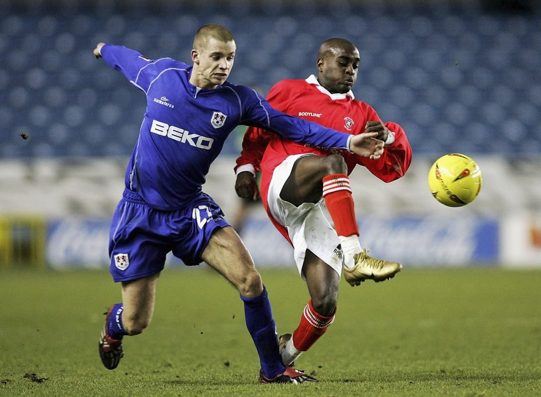 Jamal Campbell-Ryce is action for Rotherham United
